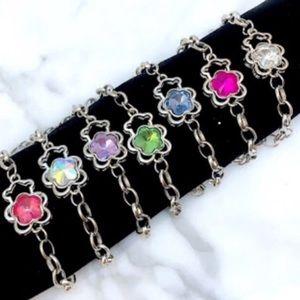 Crystal Teddy Bear Link Bracelet
